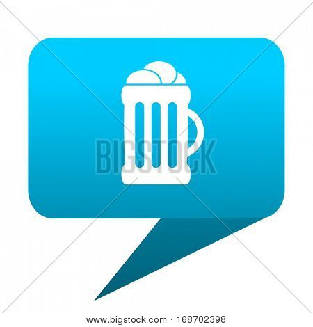 beer blue bubble icon