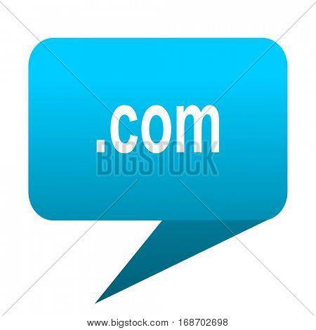 com blue bubble icon