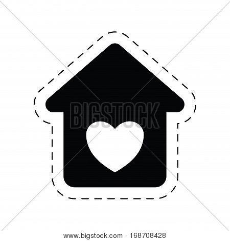 home heart love romance ornament pictogram vector illustration eps 10