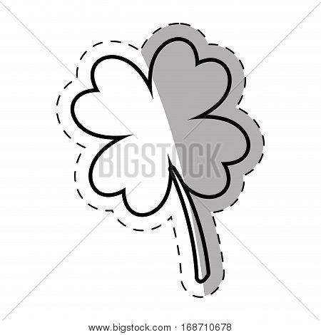 shamrock leaf lucky plant thin line vector illustration eps 10