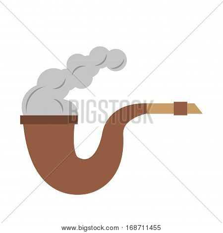 pirate tobacco pipe smoke vector illustration eps 10
