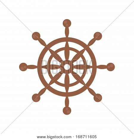wheel steering boat helm vector illustration eps 10