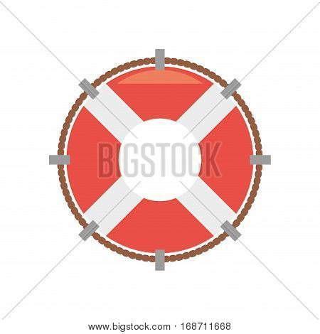 life buoy rescue saver boat vector illustration eps 10