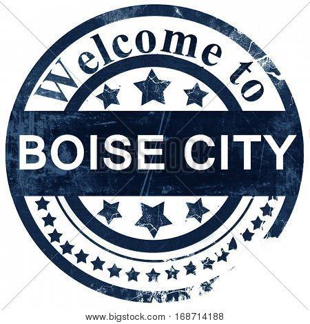 boise city stamp on white background