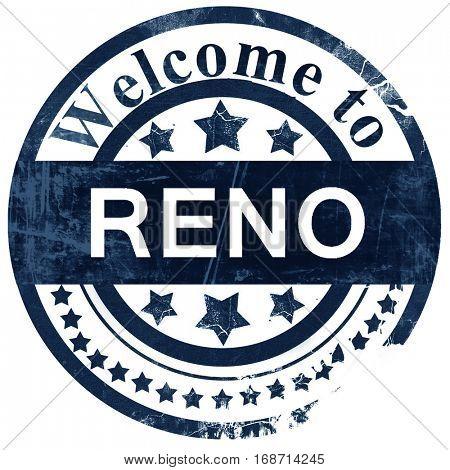 reno stamp on white background
