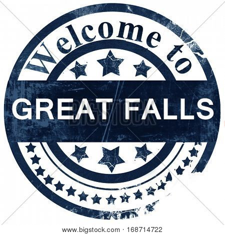 great falls stamp on white background