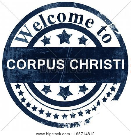 corpus christi stamp on white background