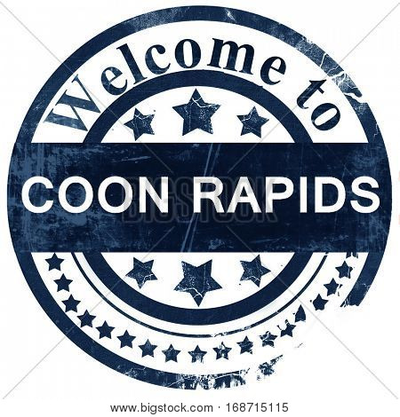 coon rapids stamp on white background