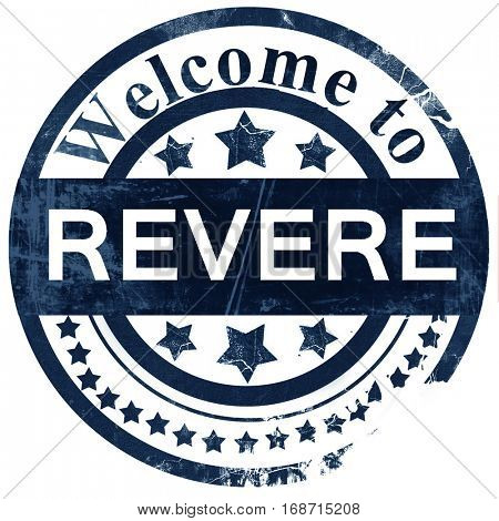 revere stamp on white background