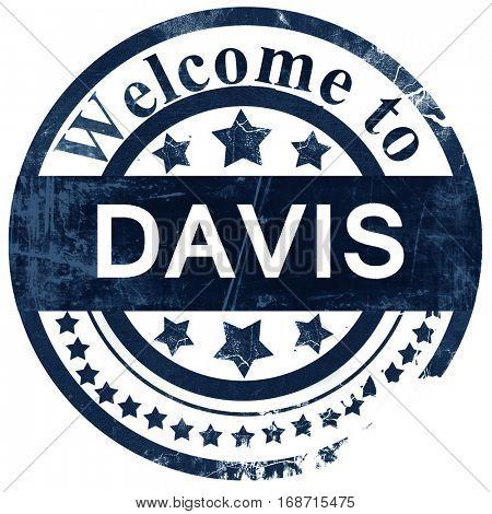 davis stamp on white background