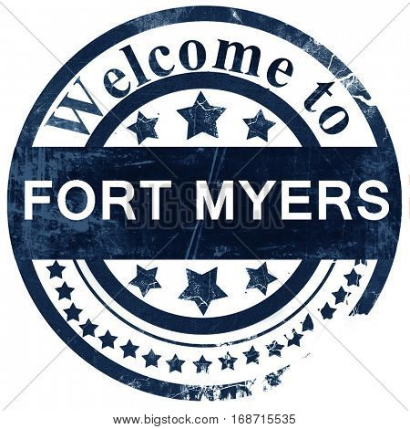 fort myers stamp on white background