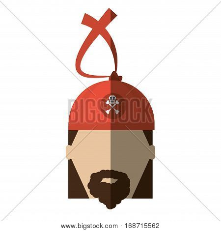 face pirate corsair bandana beard shadow vector illustration eps 10