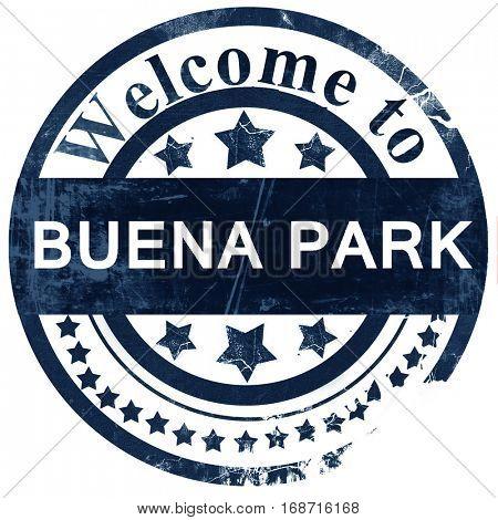 buena park stamp on white background