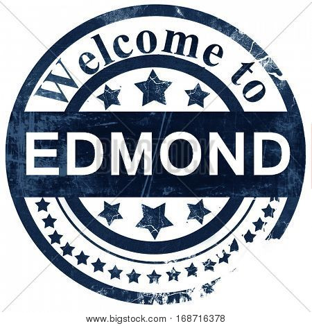 edmond stamp on white background
