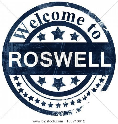 roswell stamp on white background