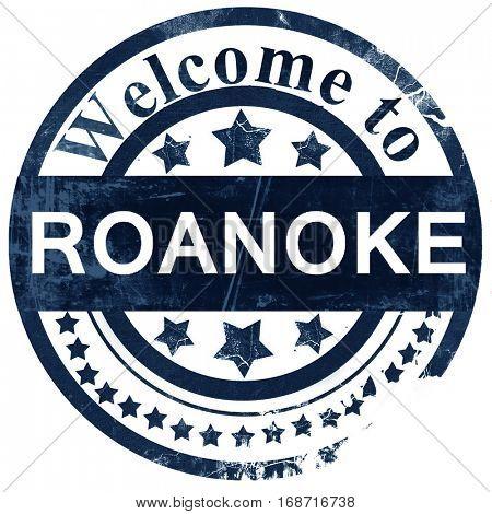 roanoke stamp on white background