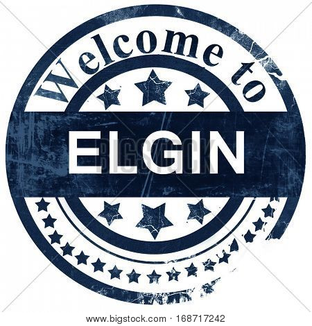 elgin stamp on white background
