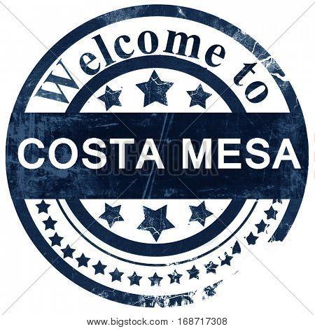 costa mesa stamp on white background