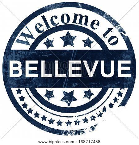 bellevue stamp on white background