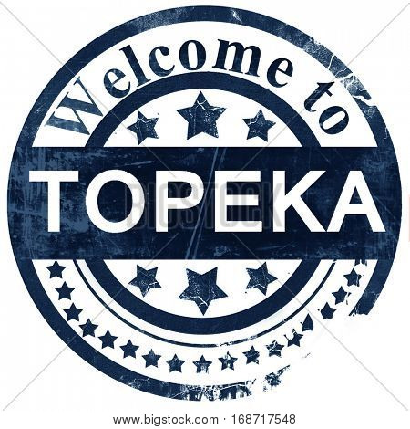 topeka stamp on white background