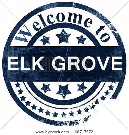 elk grove stamp on white background