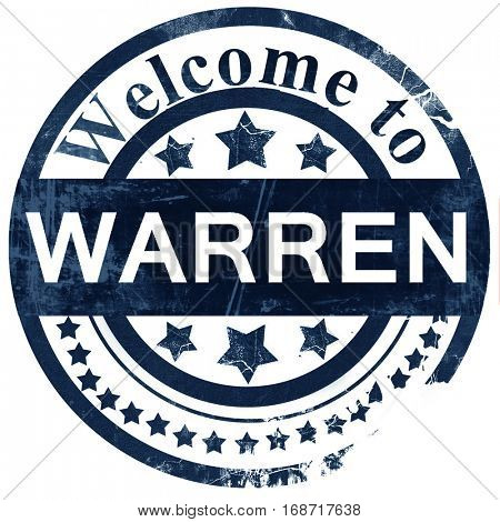 warren stamp on white background
