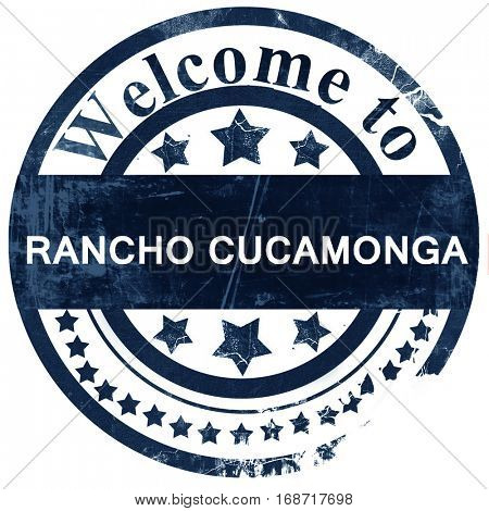 rancho cucamonga stamp on white background