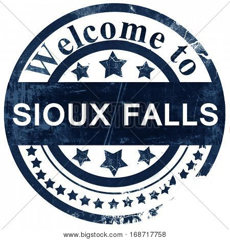 sioux falls stamp on white background