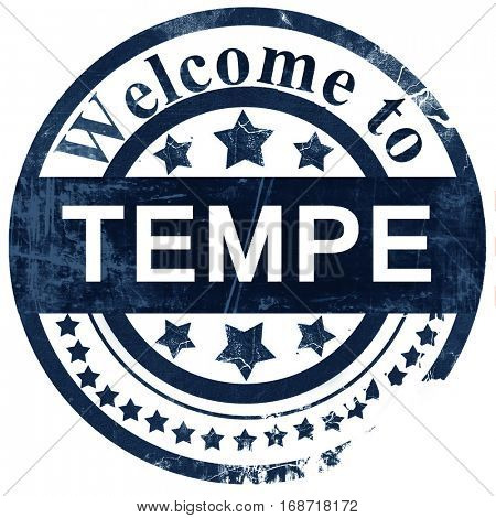 tempe stamp on white background
