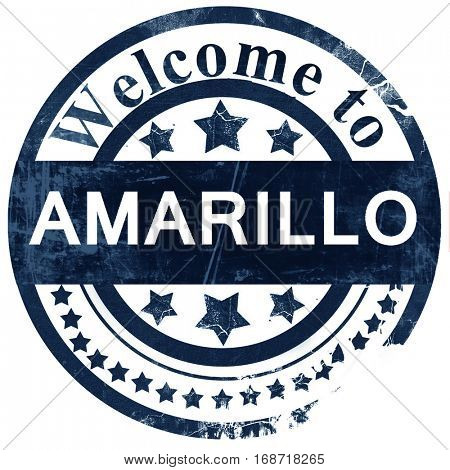 amarillo stamp on white background