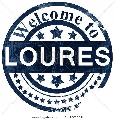 Loures stamp on white background