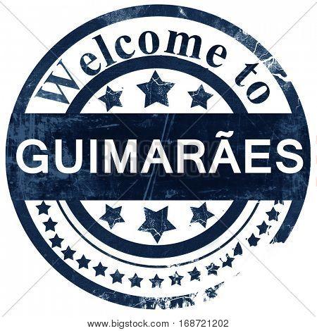 Guimaraes stamp on white background