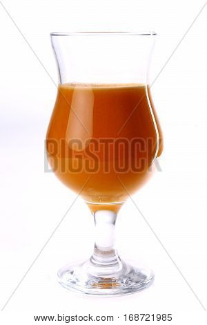 Glass Of The Brown Juice