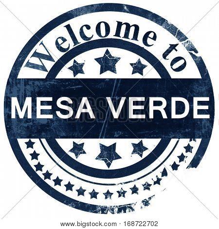 Mesa verde stamp on white background