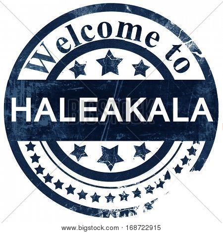 Haleakala stamp on white background