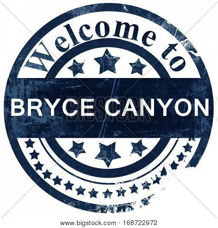 Bryce canyon stamp on white background