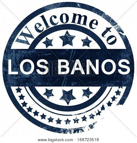 los banos stamp on white background