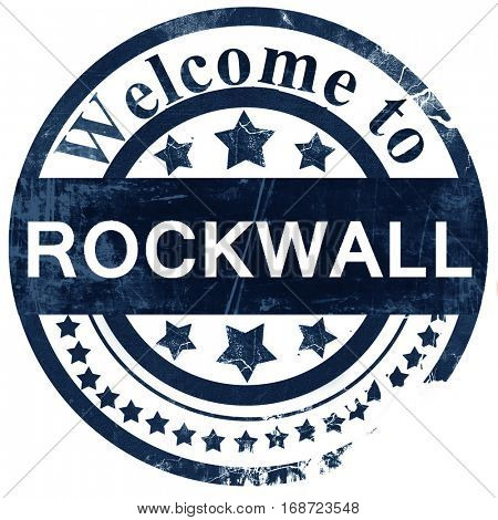 rockwall stamp on white background