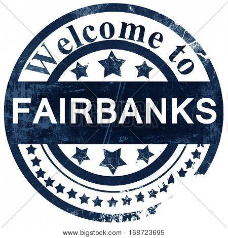 fairbanks stamp on white background
