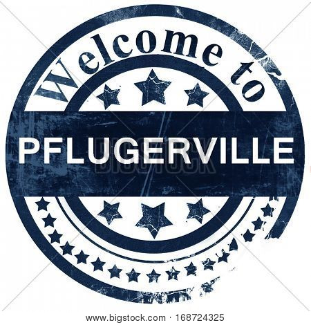 pflugerville stamp on white background