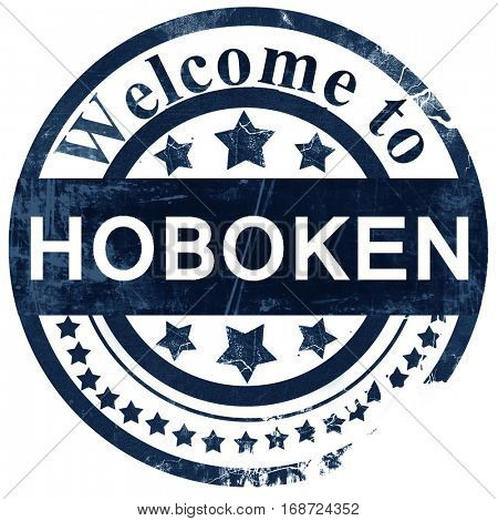 hoboken stamp on white background