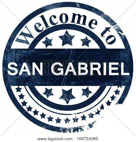 san gabriel stamp on white background
