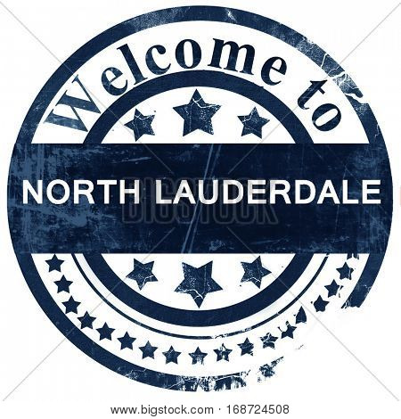 north lauderdale stamp on white background