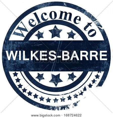 wilkes-barre stamp on white background