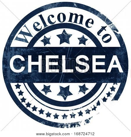 chelsea stamp on white background