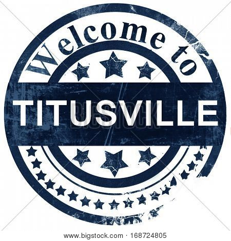 titusville stamp on white background
