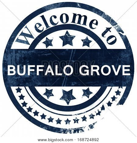 buffalo grove stamp on white background