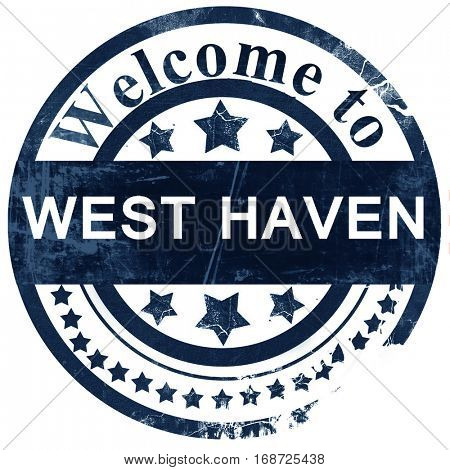 west haven stamp on white background