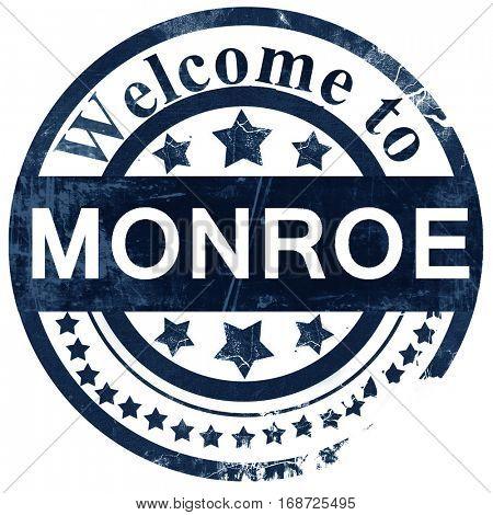 monroe stamp on white background