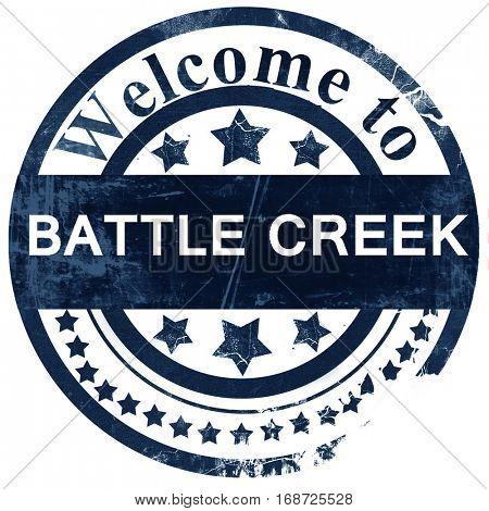battle creek stamp on white background